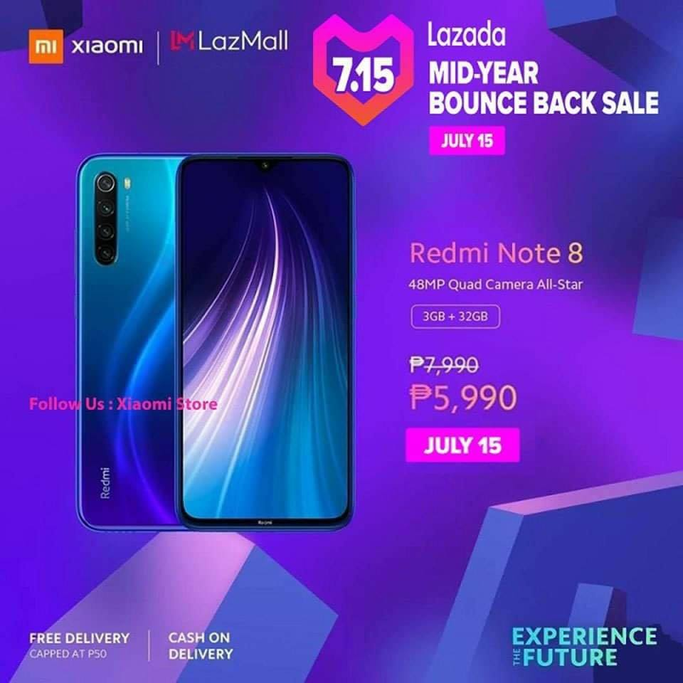 Xiaomi smartphones at Lazada's Mid-Year Sale