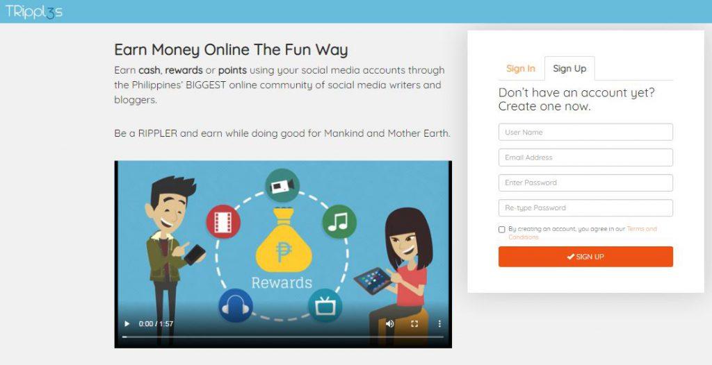 Earn Money Online The Fun Way through TRipples PH