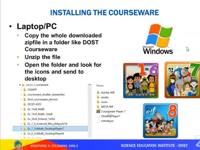 DOST Coursware MS Windows