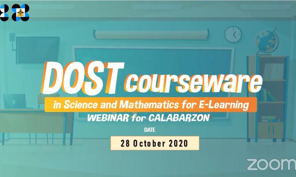 #Bangon Webinar Series on Kinabukasan: DOST Courseware